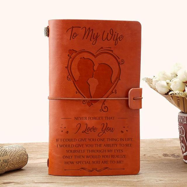 Cuaderno de cuero Macaron diario Personal de oficina Original/planificador de semana/Agenda Material escolar cuaderno DIY regalos de cumpleaños