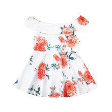 Mother daughter matching floral off the shoulder dresses
