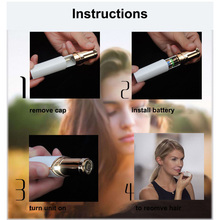 Electric Hair Removal Epilator For Women Facial Depilador  Safety Epilator For Women Body Face Mini Makeup Tool