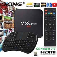 Hot sprzedaży Set-top pudełka MXQ pro Android Tv box 4k 2G 16G RK3229 inteligentny BOX, androida 7.1 4K HD 3D 2.4G WiFi PK h96 max X96 Tv Box