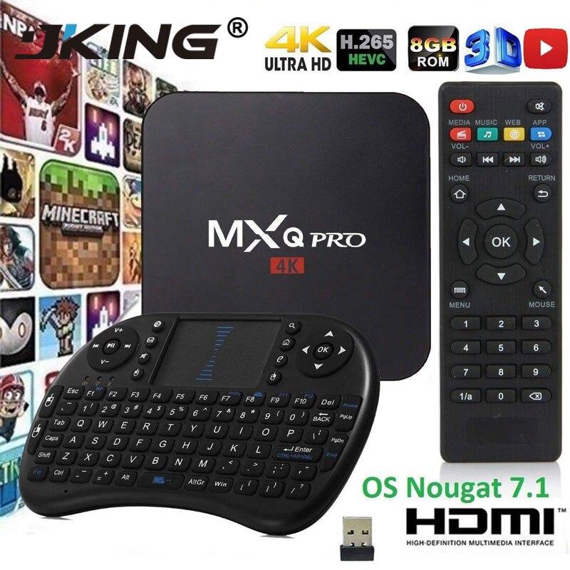 Vendas Hot Set-top boxs MXQ pro Android Tv box 4 k 2G 16G RK3229 Smart BOX android 7.1 K HD 3D 4 WiFi 2.4G PK h96 max X96 Caixa de Tv