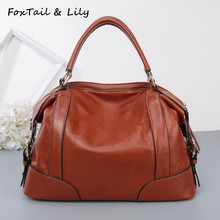 FoxTail & Lily Women Real Leather Bag Fashion Designer Handbags High Quality Genuine Leather Ladies Shoulder Messenger Bags все цены