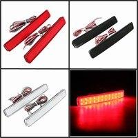 2x 24 LED Auto Rear Reflectors Bumper Tail Fog Lamp Brake Stop Night Running Lights Driving