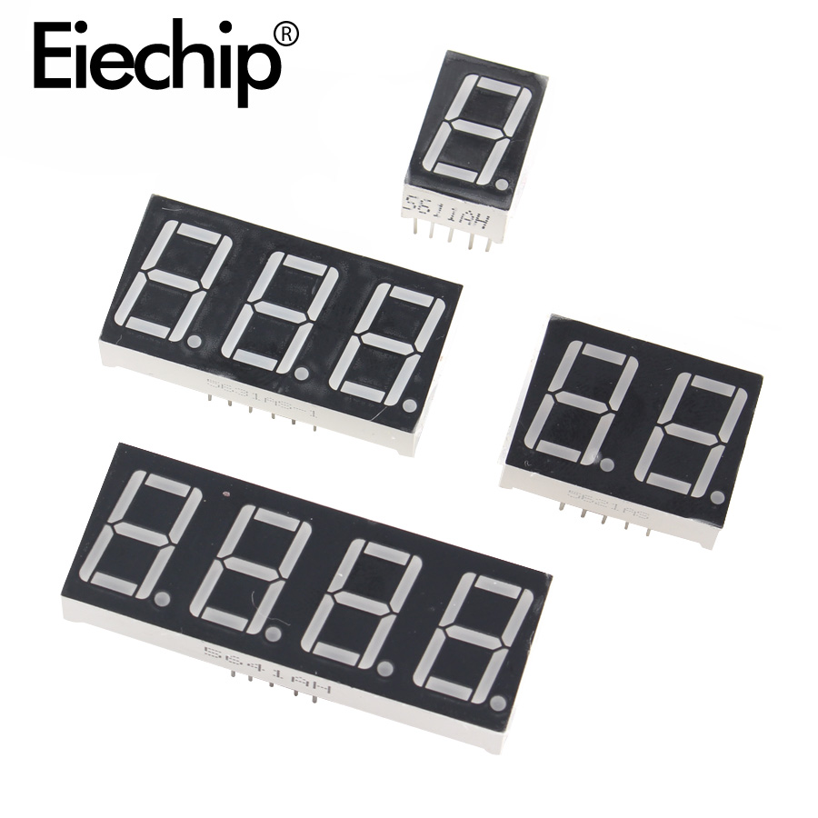 1/2/3/4 Bit LED Display 7 Segment 0.56inch Common Anode 1/2/3/4bit 0.56 Inch Tube Red Common Anode LED Digit Display 7Segment