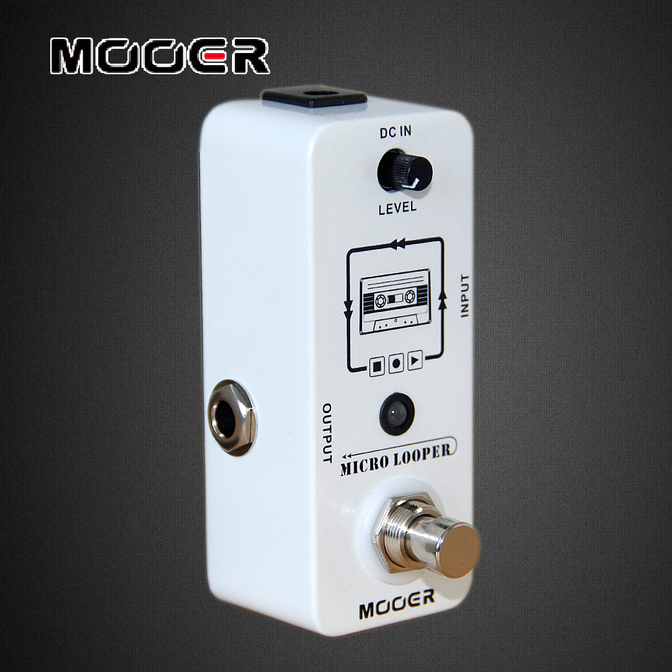 MOOER Pedal Micro Looper Loop Recording Electric Guitar Effects Pedal hand made loop electric guitar effect pedal looper true bypass 3 looper switcher guitar pedal hr 1