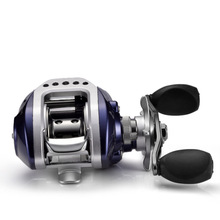 купить 10+1BB Baitcasting Fishing Reel 6.3:1 Bait Casting Reel Adjustable Magnetic Brakes Brake Force 4KG дешево