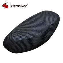 hot deal buy new summer cool 3d mesh motorcycle seat cover breathable sun-proof motorbike scooter seat covers cushion for honda yamaha suzuki