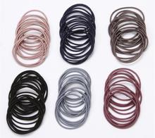 2019 New Fashion 20pcs/lot 5CM Size Thin Elastic hair Bands Korean Style Basic Girl Women Headwear Hair Accessories Tie Gum