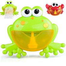 Bubble Crabs Baby Bath Toy Funny Frog Bath Bubble Maker With Music Pool Swimming Bathtub Soap Machine Toys For Children Kids недорого