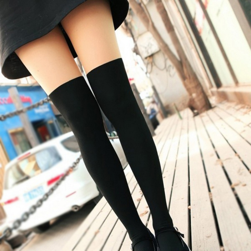 Pantyhose Autumn Lady Fake High Tube Stitching Wholesale Velvet Pantyhose False Thigh Anti-Hook Wire Bottom Pantyhose