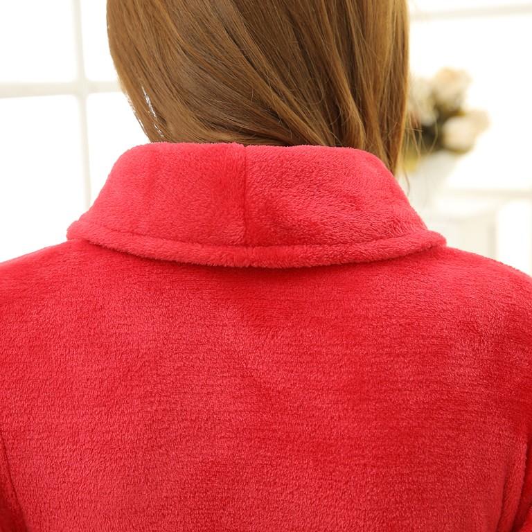 Unisex Mens Women\'s Long Polyester Sleep Lounge Robes RBS-C LYQ114 4