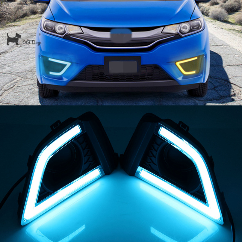 Car Flashing For Honda Fit 2016 2017 Drl Led Driving Daytime Running Light Fog Lamp Relay Daylight Styling Free Shipping In Embly From