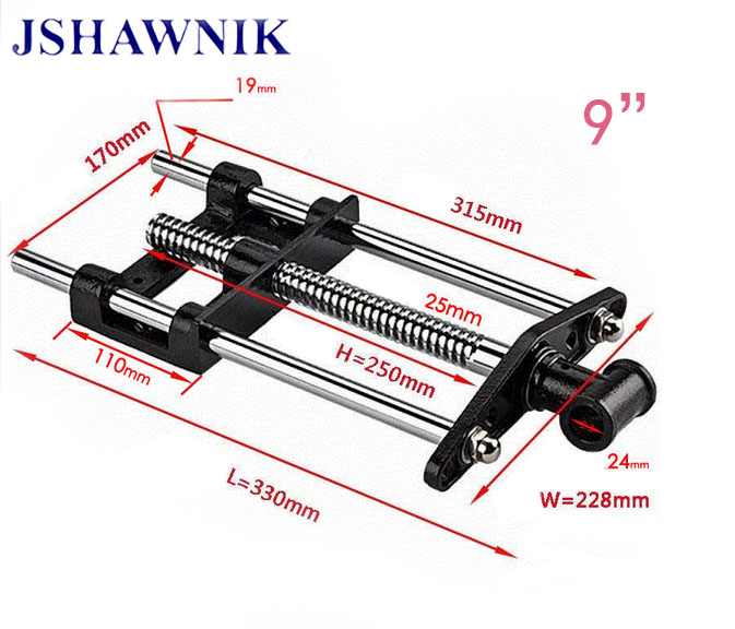 9 Jaw wide hand screw clip guide bar woodworking clamp woodworking vice woodworking fixture manual tool