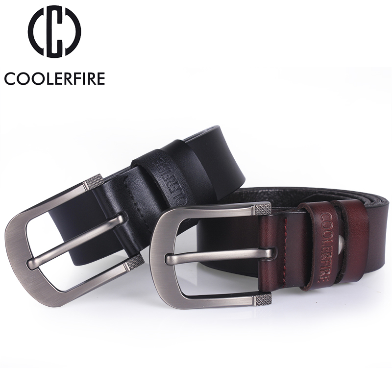 High quality genuine leather belt designer belts men luxury strap male belts for men fashion vintage pin buckle for jeans men in Men 39 s Belts from Apparel Accessories