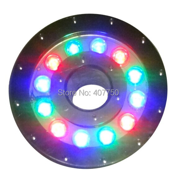 free shipping to Oceania IP68 rgb led underwater light 12W 12V led pool light 2pcs/Lot  for city lakes