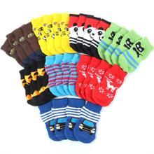 Обувь для собак и маленьких питомцев, милые мягкие теплые вязаные носки с рисунками животных, одежда для маленьких, средних и больших собак