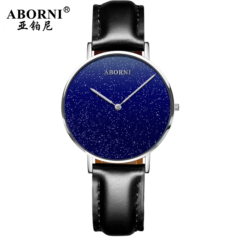 ABORNI  Brand Modern Classic Men Women Wrist Watch Couple Lover Pair Watches Valentine Birthday Gift Star Quartz Hour Clock