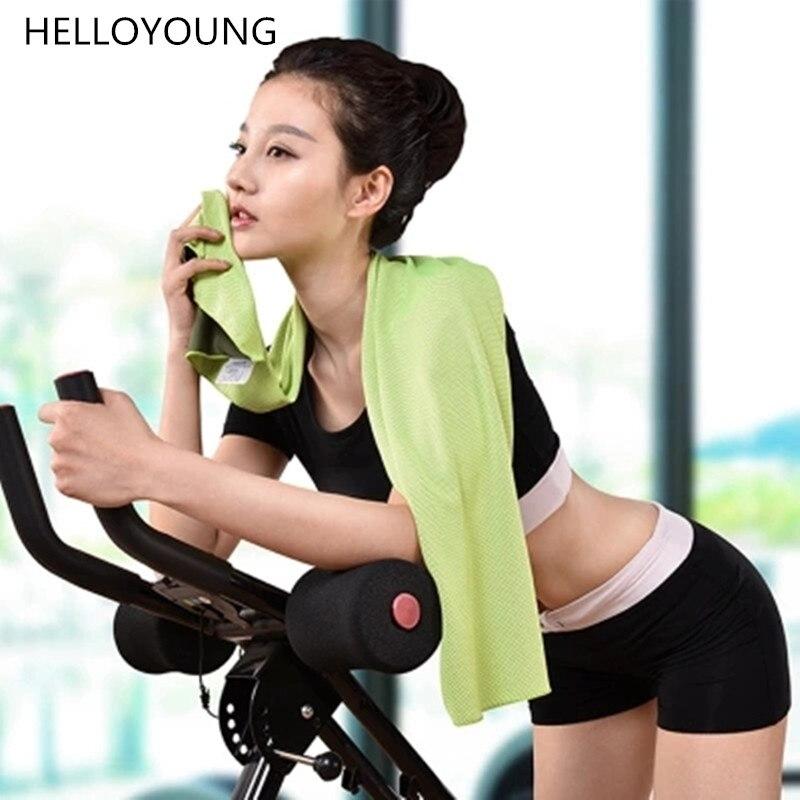 Sports Towel Sweat: HELLOYOUNG Summer Women Sports Towel Cold Feeling Sweat