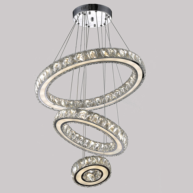 Moderne K9 Grosse LED Runde Wohnzimmer Kristall Kronleuchter Leuchten Fr Treppe Stair Lampe Indoor Hause VALLKIN