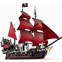 16009 LEPIN 1151pcs Pirates Of The Caribbean Queen Anne S Reveage Ship Model Building Blocks Enlighten