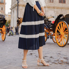 INMAN 2019 Summer's New Arrival A Line Stripped Long Women Fashion Elegant Skirt(China)