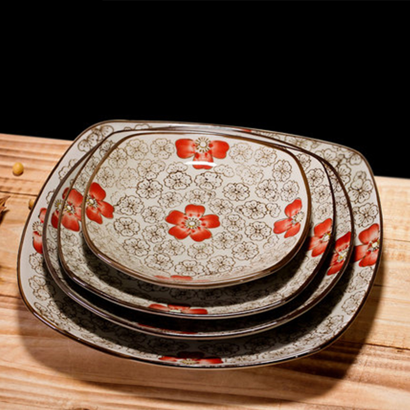 Japanese Style Ceramic Square Plate Sushi Plate Creative
