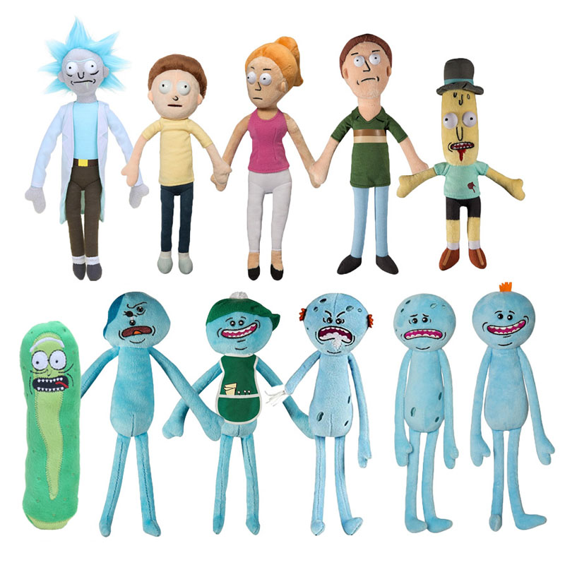 Adult Swim Cartoon Rick and Morty Season 3 Mr Poopybutthole Summer Jerry Smith Happy Caddy Mr. Meeseeks Plush Stuffed Doll Toys