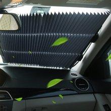 Автомобильный солнцезащитный, изоляционный экран солнцезащитный козырек автоматический Выдвижной Автомобильный занавес солнцезащитный летний передний лобовое стекло штора-экран