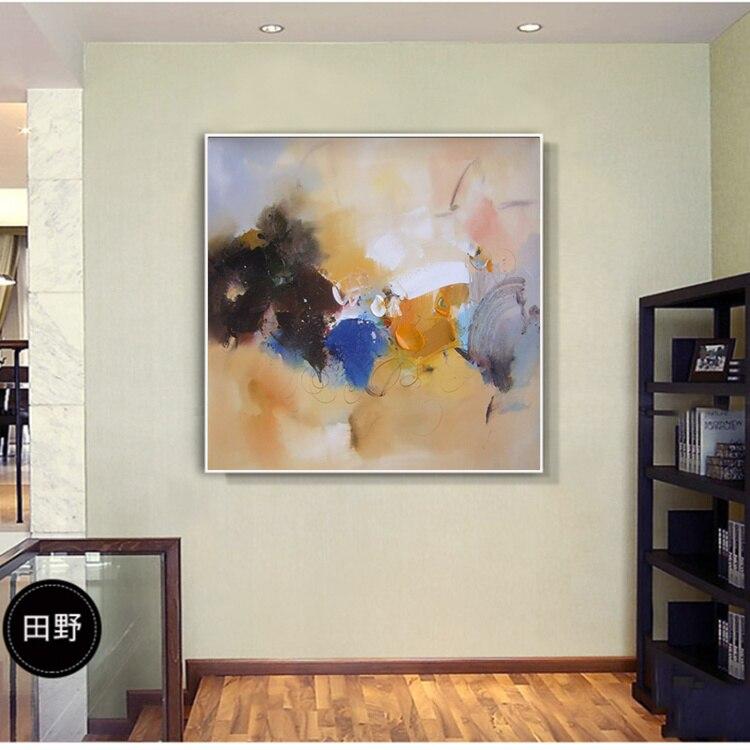 Cuchillo Pintura al óleo abstracta Pintado a mano Arte de la pared - Decoración del hogar