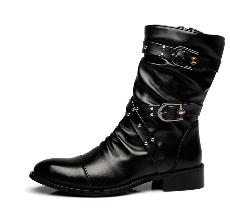 Fashion-men-spring-autumn-Motorcycle-Martin-Boots-British-Style-Gothic-Punk-Thick-Warm-Black-Shoes-Plus (1)
