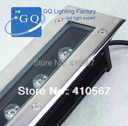 DHL Fedex 9 W LED  pod ziemią  lekka AC85 265V prostokąt IP68 lub DC12V 24 V najlepsza cena fabryczna w Lampy podziemne LED od Lampy i oświetlenie na
