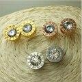 3 Colores! 18 K de Oro! 100% Marca de Diseño de diamantes de Imitación de Cristal Austriaco Anillo de La Joyería de LA SWA Pendientes Cúbicos Corte, El Precio de fábrica