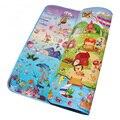 Mundo Do Mar + Happy Farm dupla Face Tapetes de Jogo Do Bebê Infantil Rastejando Tapetes Criança Ginásio Tapete Tapetes de Crianças Brincando Garoto Esteiras de piquenique