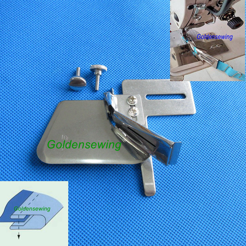 Sewing Machine Double Fold Clean Finish Top /& Bottom Binding Binder Attachment