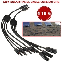 New Portable Y Type 1 To 4 MC4 Solar Style Branch Panel Cable Connector Parallel Connection