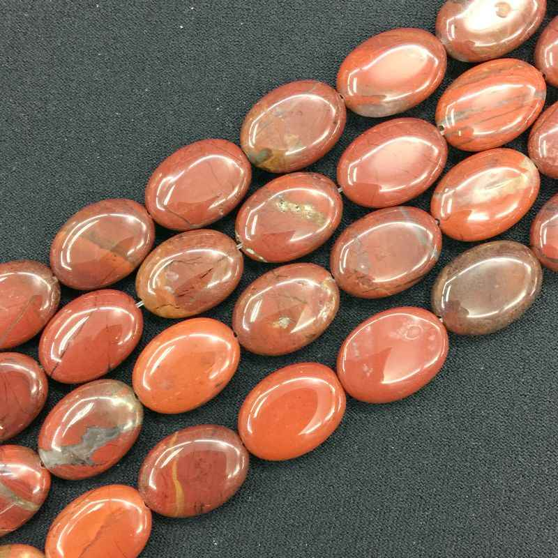 צבעוני אבן חרוזים שטוח סגלגל נשיפת צורת 13x18mm DIY תכשיטי ביצוע אספקת קרנליאן טייגר עיניים howlite וכו'