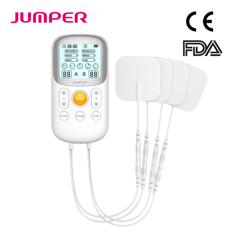 JUMPER de Dezenas de Fisioterapia Cuidados de Saúde Dispositivo de Pulso Pescoço Cervical Massager Acupuntura Pads Eletrodo Estimulador Muscular Fio
