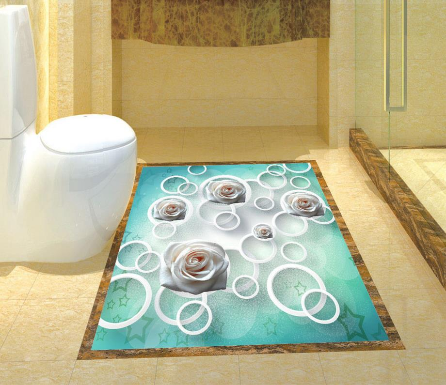 High grade 3D floor wallpaper waterproof self adhesive ...