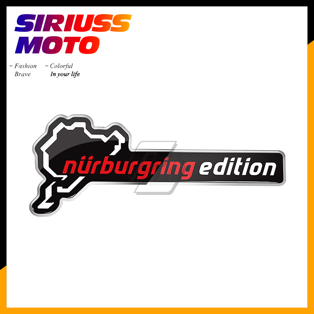 3D Resin Nurburgring Edition Sticker Motorcycle Tank Decal Motocross Racing Stickers Car AVT Bike Decals