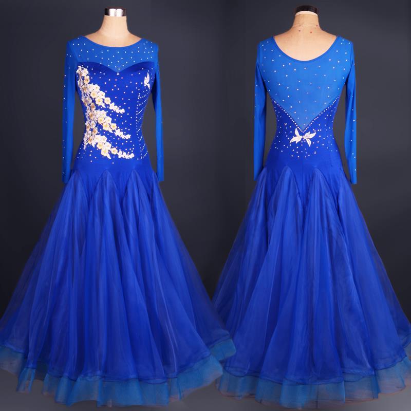 ladies ballroom dance dress standard for women costumes standard ballroom dress competition 2015 waltz blue women dresses
