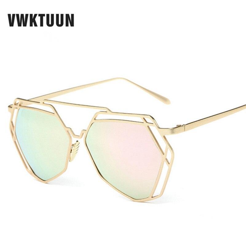 VWKTUUN À La Mode lunettes de Soleil Femmes Marque Designer Polygone Alliage  Cadre Miroir lunettes de Soleil UV400 Lunettes De Soleil lunette de soleil  ... 651367842187