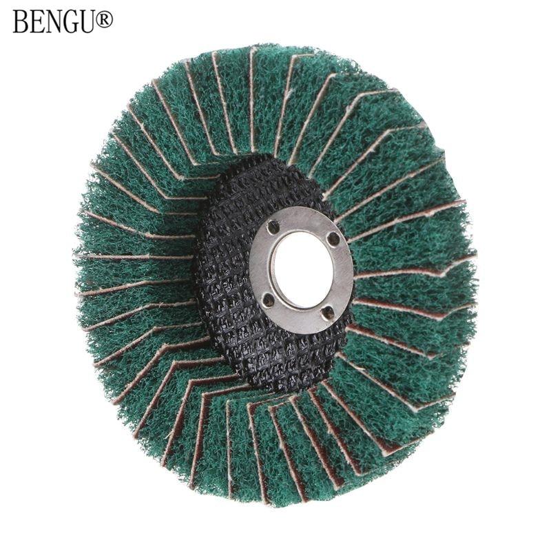 Nylon Fiber Grinding Wheel With Sand Polishing Buffing Disc Pad Abrasive Brush Rotary Tool
