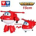 Grande!! 15 cm Super Asas Action Figure Brinquedos Deformação Robô Avião Transformação Para Presente de Natal Das Crianças