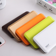 8000mAh Power Bank Built in Cable Portable Charger Li polymer External Battery with Indicator Light for Xiaomi iPhone