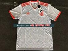 8926ebc3998 2018 World Cup Spain AWAY WHITE Soccer Jersey Spain ramos A.INIESTA  6 SILVA