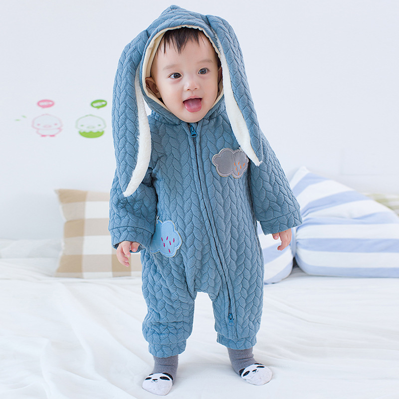 autumn winter baby rompers fleece hoodies baby girls boys jumpsuit newborn toddle clothing. Black Bedroom Furniture Sets. Home Design Ideas