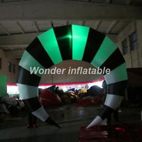 Charming black and white led lighting decoration inflatable cresent for night club