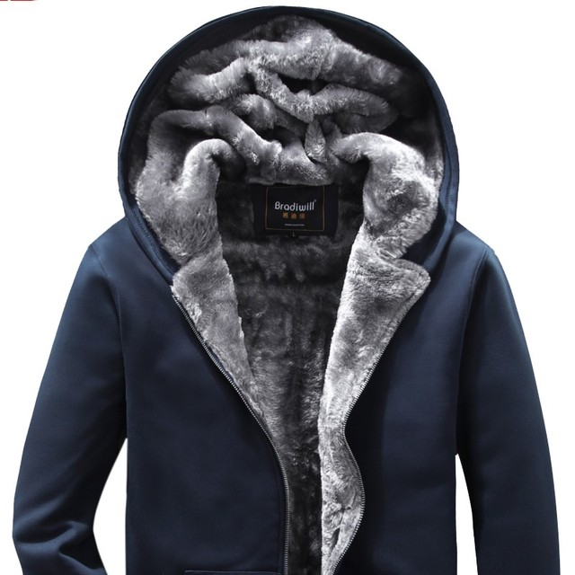Free shipping Plus size european outerwear cardigan with hood large male M-6xl turn-down collar thermal fleece black Sweatshirts