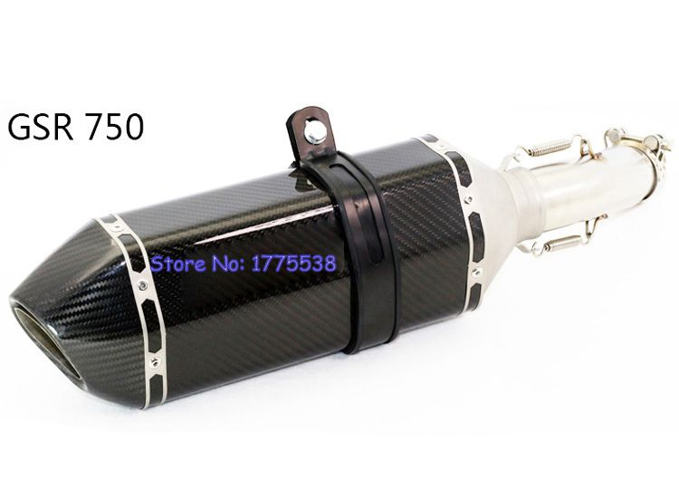 Carbon Fiber Motorcycle Exhaust Pipe for GSR 750 Motorbike Exhaust Muffler Pipe Escape with Link Pipe