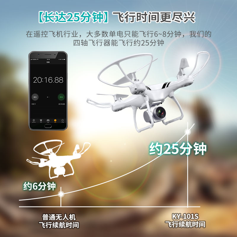 KY101S 25mins Action Time Quadcopter WIFI FPV with 1080 HD Camera RC Helicopter VR Glass Real-time Transmission Aircraft Drone yizhan i8h 4axis professiona rc drone wifi fpv hd camera video remote control toys quadcopter helicopter aircraft plane toy